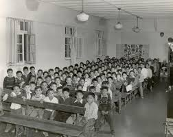 the residential school system male students in the assembly hall of the alberni n residential school 1960s united church archives toronto from mission to partnership collection