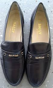 Bally Parawet Mens Black Leather Loafers Size 11 5m Made In