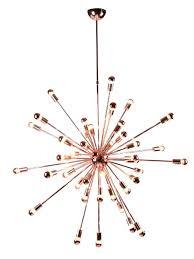 gold chandelier sputnik rose modern furniture o collection with glass shades