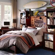 Awesome Design Ideas Decorating Teenager Boys Bedroom : Cool Surfing Theme  Teenage Boy Bedroom With North
