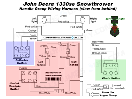 john deere 1330se snowblower wiring harness for the handle group allthumbsdiy snow thrower john deere 1330se wiring harness