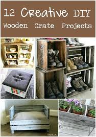 wood crate ottoman creative projects from wooden crates wooden crate storage ottoman