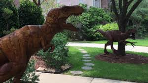 Dinosaur Lawn Decorations Front Yard Dinosaurs Gain Attention From New Territory Neighbors