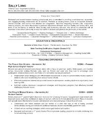 Reading Teacher Resume Nmdnconference Com Example Resume And