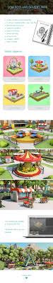 Amusement Park Design Game Low Poly Amusement Park On Behance Low Poly Park Park Art