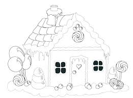 Gingerbread Coloring Page Gingerbread House Coloring Pages Blank