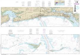 Gulf Coast Nautical Charts Noaa Chart Intracoastal Waterway Dog Keys Pass To Waveland 11372