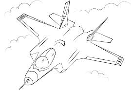 Kleurplaten Vliegtuigen F 16 Leuk Voor Kids F16 Gevechtsvliegtuig