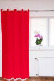ösenschal Fenstervorhang Rot 145x145 Cm Gardinenschal Dekoschal