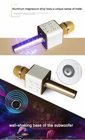 Micro karaoke cầm tay kèm Loa Bluetooth Q7 - CC3