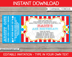 Christmas Party Tickets Templates Carnival Party Ticket Invitation Template Carnival Or Circus 2