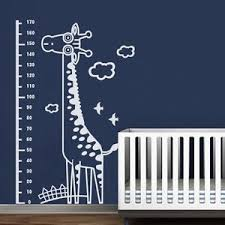 Details About Giraffe Growth Chart Wall Decal Removable Inspired Vinyl Baby Kid Room Art Decor