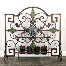 single panel fireplace screen single panel metal fireplace screen