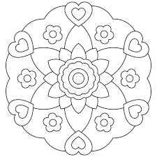 Small Picture Mandala Coloring Pages Printable For Kids Coloring Coloring Pages