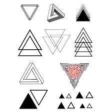 Různé Hodnoty Trojúhelníku Tattoo