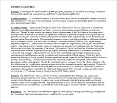 sample admin services director job description service director job description
