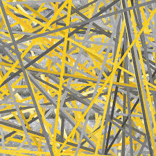 Yellow Painting - Connection - Yellow And Gray Wall Art by Lourry Legarde