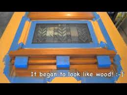 diy woodgraining a steel entry door