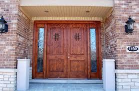 Alder Double Front Door With Side Lites. Double Door With Two ...