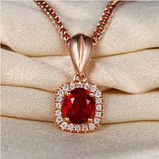 real ruby necklace 075ct real natural burma red ru pendant necklace with 18k rose