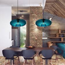 modern color glass ceiling lamp 60w pendant light in blue bubble design hot