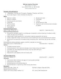 Child Care Resume Sample Beauteous Child Care Skills Resume Child Care Skills Resumes Resume Sample