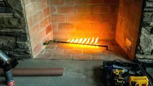 gas start fireplace wood burning fireplace gas starter pipe