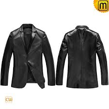 mens black leather blazer jacket cw840801 jackets cwmalls com