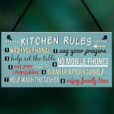 funny rustic kitchen house rules home