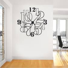 Small Picture Clock Wall Decals Vinyl Clock Decals Trendy Wall Designs