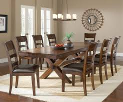 Hillsdale Dining Table Hillsdale Park Avenue 9 Piece Trestle Dining Room Set In Dark
