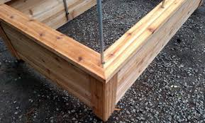 cedar raised garden beds. Raised Bed Being Built - Showing Quality Materials Cedar Wood And Support Post Garden Beds I