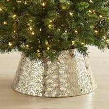 glossy red tree collar at crate u0026 barrel 70 crate and barrel christmas tree skirt d66