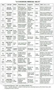 Image Result For Image 12 Cell Salts And Astrology