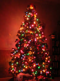 Christmas Tree With Lights Happy Holidays And Light Ideas
