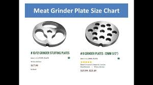 Grinders Size Chart Meat Grinder Plate Size Chart