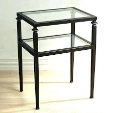 tall thin end tables metal and glass end tables large size of end glass side table