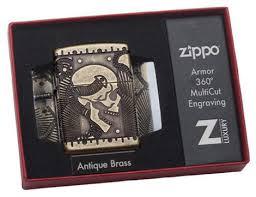 29268 <b>Зажигалка ZIPPO</b> Armor™ с покрытием <b>Antique</b> Brass ...
