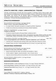 baseball coach resume