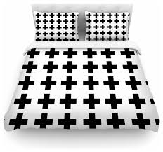 suzanne carter swedish cross black white duvet cover contemporary duvet covers and duvet sets by kess global inc
