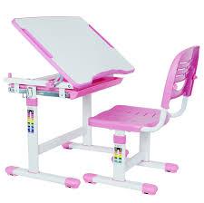 com vivo height adjule children s desk and chair set pink kitchen dining
