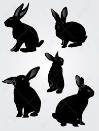 ウサギのシルエットベクトル イラスト