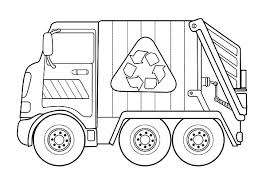 Small Picture Recycling Garbage Truck Coloring Pages Download Print Online