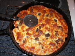 How To Make A Frozen Pizza Turn Store Bought Pizza Into Cast Iron Deep Dish Pizza Youtube