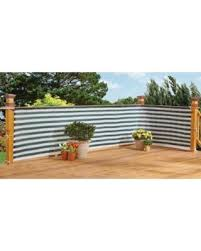 Stylish Outdoor Privacy Screen  Balcony, Deck or Patio Fence Privacy Screen  - Green White