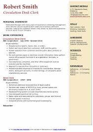 Desk Clerk Resumes Desk Clerk Resume Samples Qwikresume