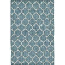 outdoor teal 6 x 9 indoor outdoor rug
