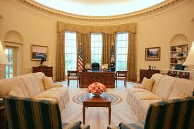 the oval office white house. Oval Office - The Exhibit Is An Exact Replica, In Scale And Design, As One White House During Bush Administration. O