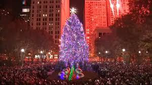 Washington Park Michigan City Christmas Lights Chicago Lights Christmas Tree In Millennium Park