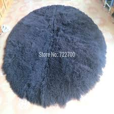 round lamb fur rug blanket sheepskin rugs and carpets for home living room throw decorative blankets